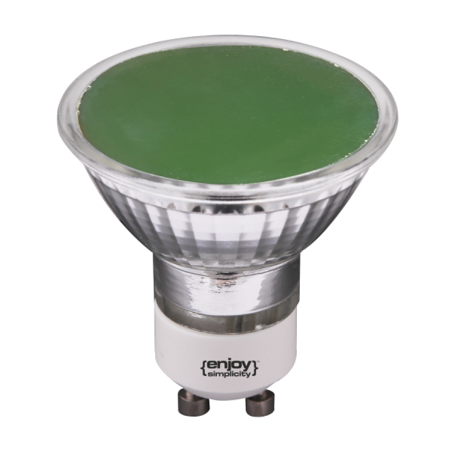 led-gu10-smd-green-100-psihro-fos-3w