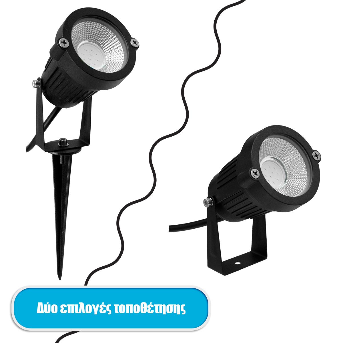 globostar-75585-provolaki-kipou-karfoto-dapedou-bridgelux-cob-led-10w-1000lm-35-dc-12-24v-adiavroho-ip67-ultra-kokkino-dimmable